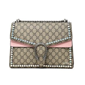 Gucci Medium Dionysus Crystal GG Supreme Bag